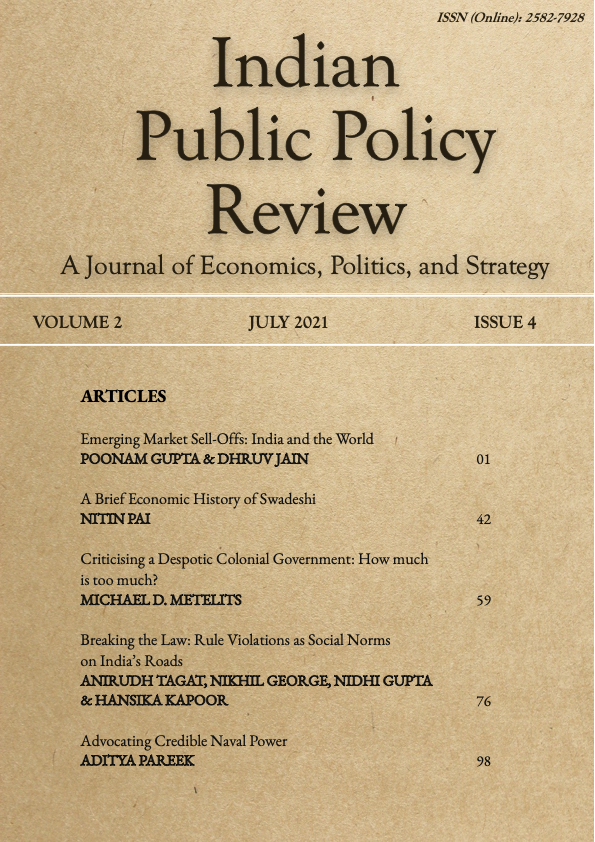 View Vol. 2 No. 4 (2021): Indian Public Policy Review